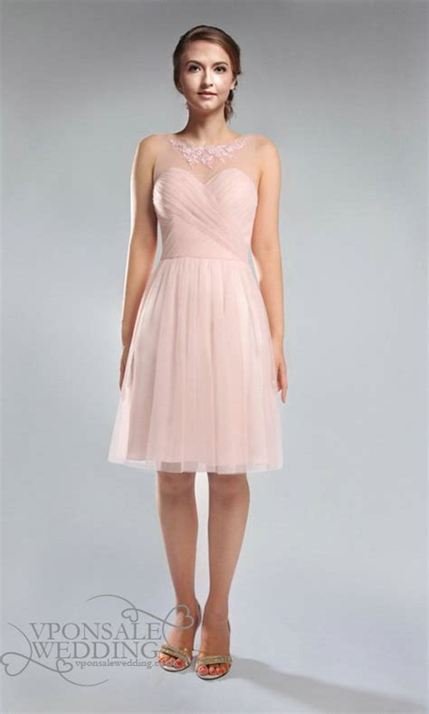 Blush Pink Bridesmaid Dress   VPonsale Wedding Custom Dresses
