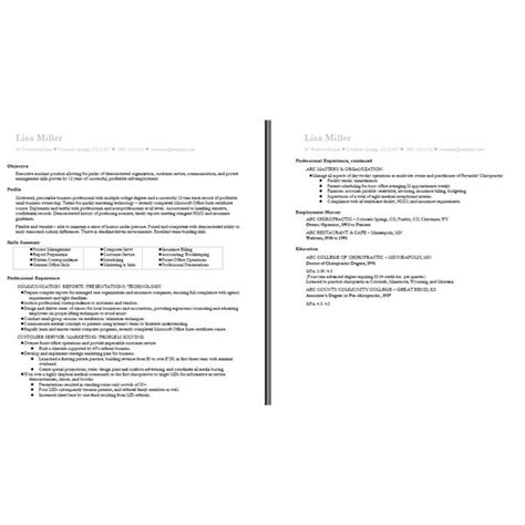 two page resume exle ten great free resume templates microsoft word links