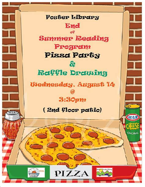 pin pizza party flyer template download image search