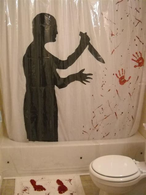 Psycho Shower Curtain by Psycho Shower Curtain Ideas Rilane