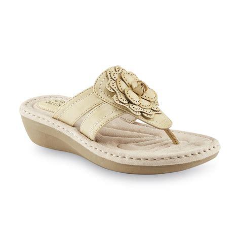i love comfort sandals i love comfort women s marla tan wedge thong sandal shop