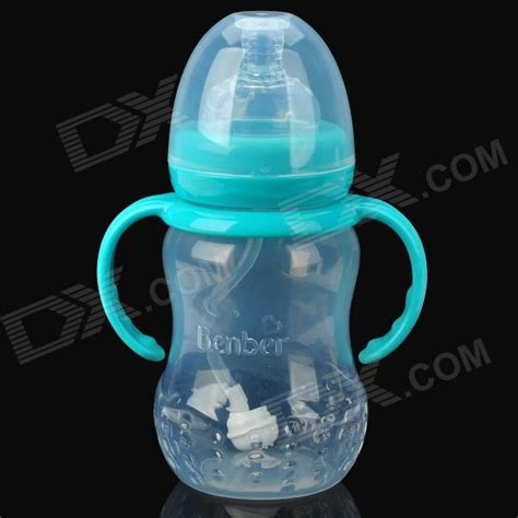 Mainan Feeding Bottle With Light And bain treasure 7876 pp feeding bottle for baby light blue transparent 210ml free shipping