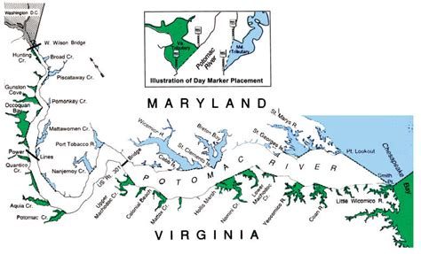 maryland fishing map potomac river fisheries commission recreational fishing