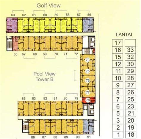 layout apartemen kalibata jual apartemen puncak bukit golf surabaya 1 2 3 br