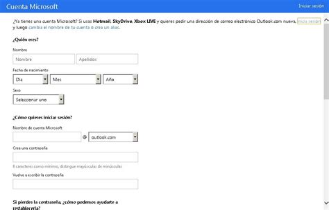 imagenes hotmail como crear una cuenta en hotmail paso a paso el chat
