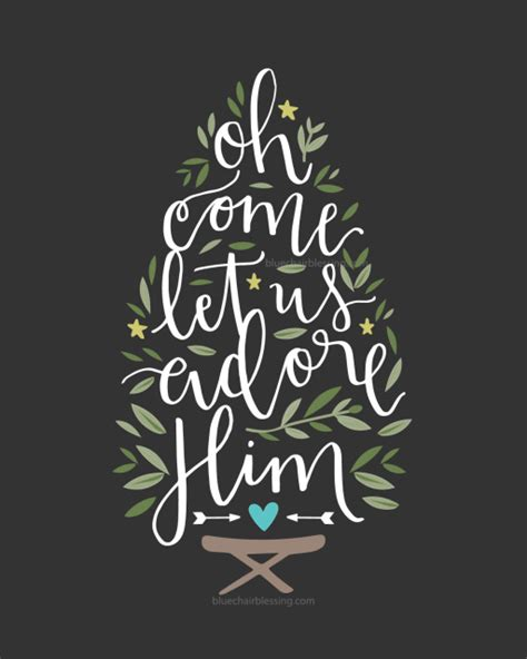pinterest christmas scripture art oh come let us adore him lettered 8 by 10 print