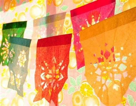 How To Make Mexican Paper Banners - mexican paper banners la ancla