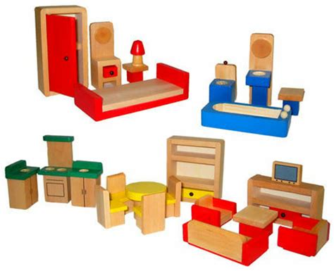 Wooden Dolls House Furniture Set At My Wooden Toys