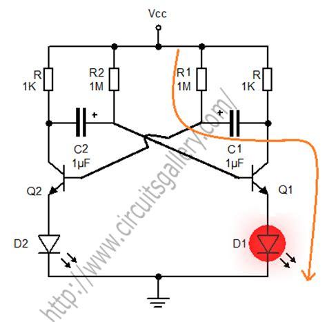 transistor multivibrator astable multivibrator using transistors transistorised circuit wave form and operation