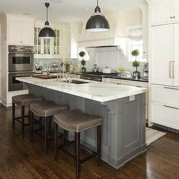 kitchen island marble top 2018 gray barstools transitional kitchen benjamin white dove martha o hara interiors