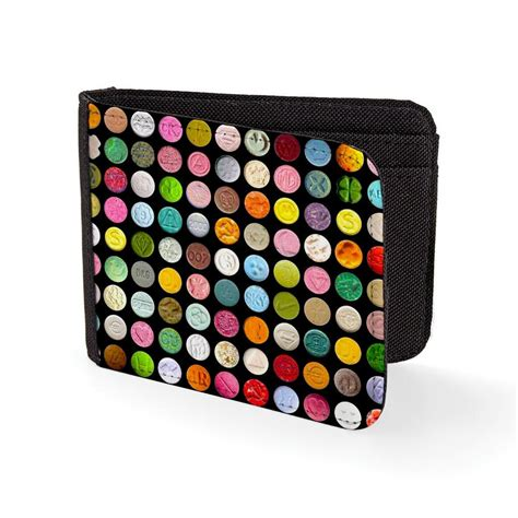 Rave Gift Cards - ecstasy pills graphic wallet print mdma cocaine drug 80 s