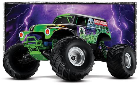 grave digger radio control monster truck traxxas 1 10 scale grave digger 2wd monster jam replica