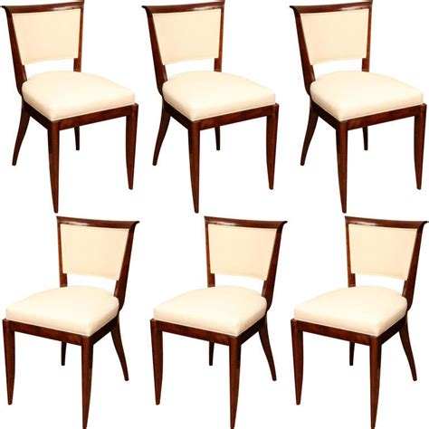 suite of six deco dining chairs at 1stdibs