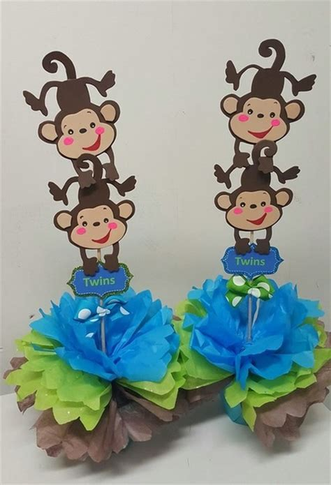 Monkey Baby Shower Theme by Baby Shower Theme Centerpieces Adrianas Creations