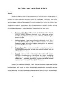 Report Style Letter Best Photos Of Informal Report Format Informal Report Exle Informal Lab Report Format And