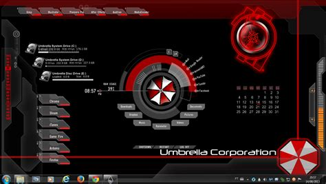 themes clock com umbrella corporation rogers1967 rainmeter by rogers1967 on