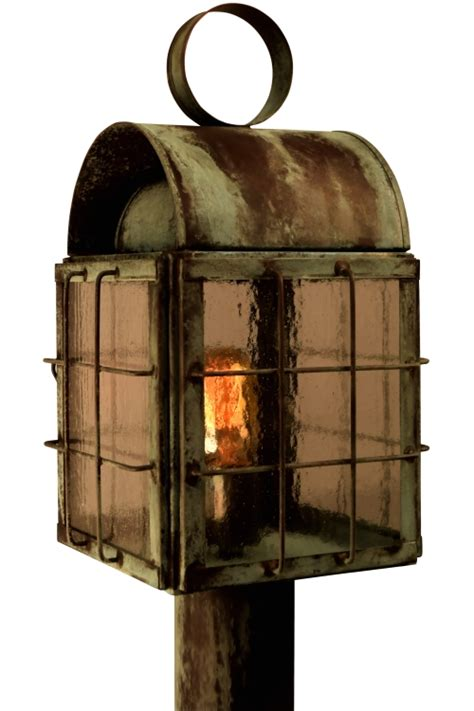 copper l post lantern back bay post light outdoor nautical copper lantern