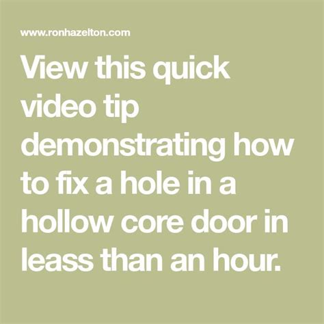 how to fix a large in a hollow door best 25 hollow doors ideas on hollow
