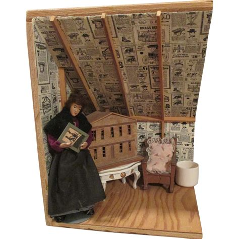 dolls house room boxes vintage attic doll house room box from rubylane sold on ruby lane