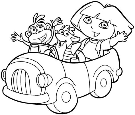 9 pics of dora and friends mermaid coloring pages dora
