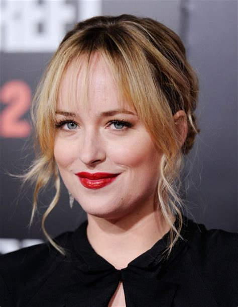 dakota johnson bangs are called what dakota johnson s low chignon with blunt bangs prom