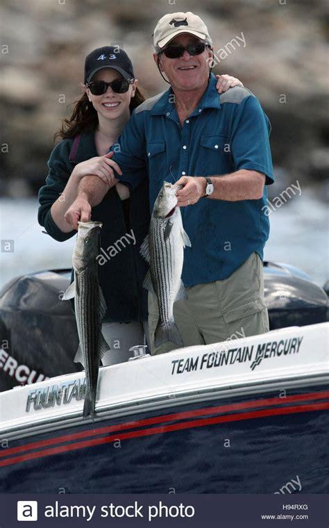 barbara boat u s president george w bush and daughter barbara bush