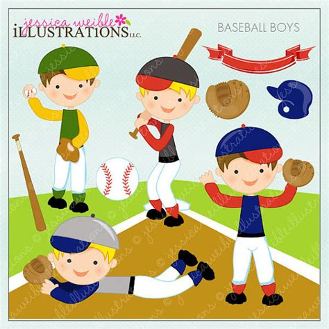 baseball for building boys to books baseball boys digital clipart for card design