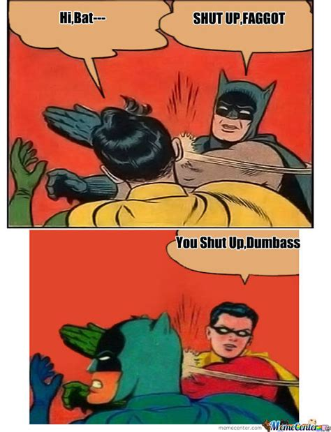 Batman And Robin Meme - robin vs batman by tenjo1998 meme center
