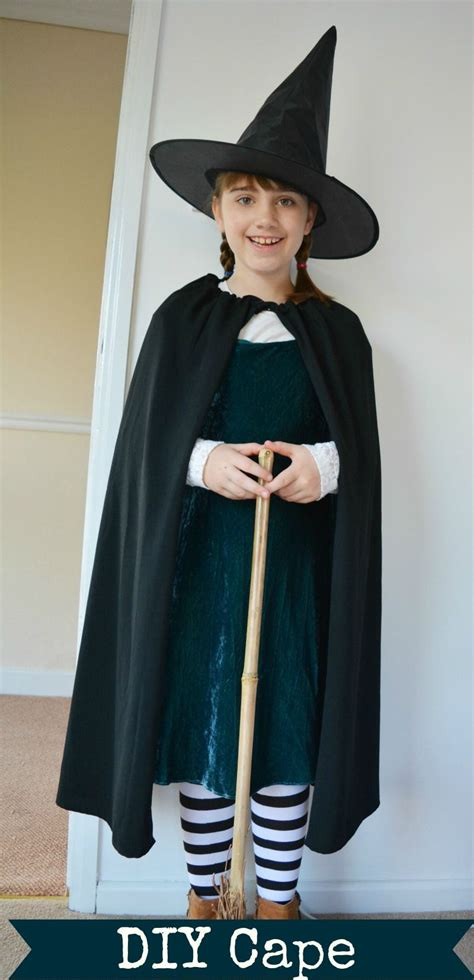worst witch costume diy cape kids witch costume diy