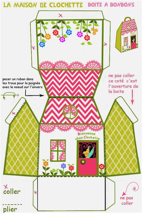 Printable House Shaped Box | tinkerbell free printable house shaped box oh my fiesta