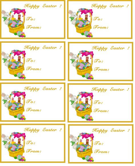 printable easter labels 8 best images of customizable printable tags template