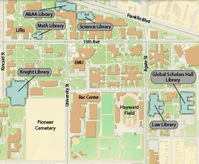 map of oregon colleges about the libraries uo libraries