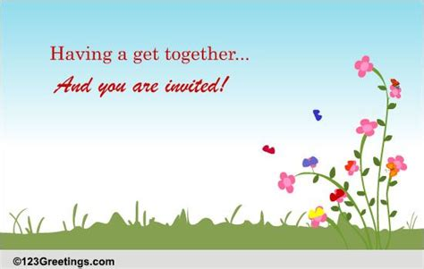 Invitation Letter Format For Get Together Invitations Cards Free Invitations Ecards Greeting Cards 123 Greetings