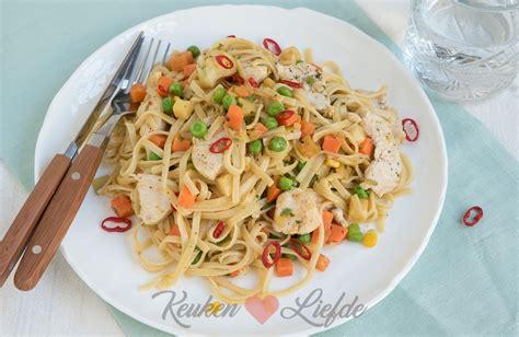 keuken liefde recepten snelle bami met kip keuken liefde