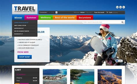 travel portal prestashop theme 37493