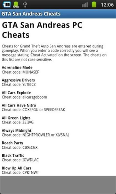 gta san andreas cheats for android gta san andreas cheats free for android by dp apps appszoom