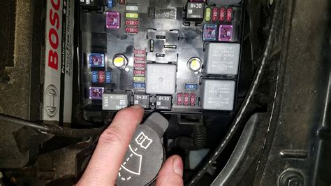 chevy sonic underhood fuses ac relay fuel pump relay