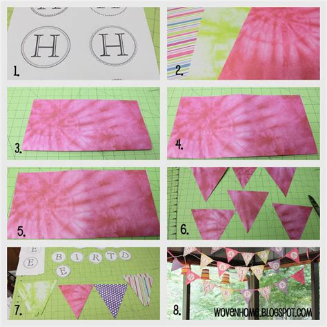 happy birthday banner printable martha stewart woven home happy birthday pennant banner tutorial