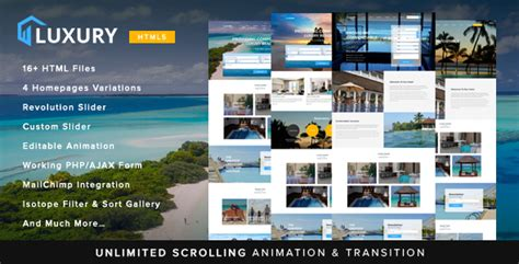 Luxury Interactive Hotel Template Nulled Download Interactive Html5 Website Templates