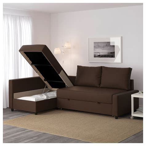 Friheten Corner Sofa Bed Friheten Corner Sofa Bed With Storage Skiftebo Brown Ikea