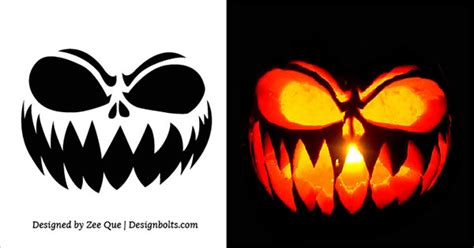 printable scary jack o lantern patterns 10 free scary halloween pumpkin carving stencils patterns
