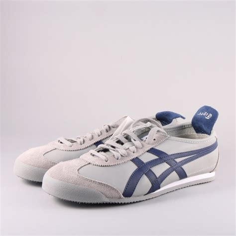 Po Onitsuka Tiger Mexico 66 Leather Yellow Green onitsuka tiger mexico 66 grey blue duo menswear