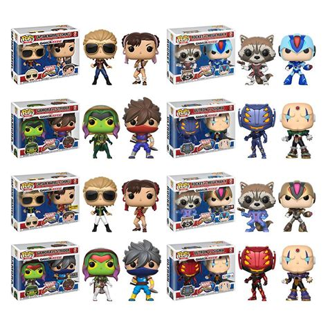 Funko Pop Marvel Vs Capcom Infinite Captain Marvel Vs Chun Li funko pop mvc infinite and mortal kombat x figures announced
