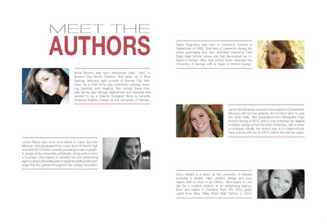 biography page layout janie hirschbuehler in design