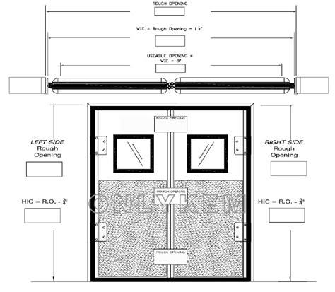 swing door detail single swing door and double swing door for cold room