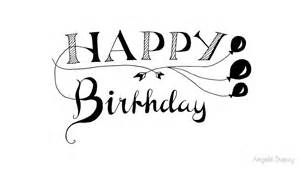 quot happy birthday calligraphy quot by angela dupuy redbubble