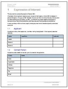 Expression Of Interest Form Template by Expression Of Interest Template Software Software