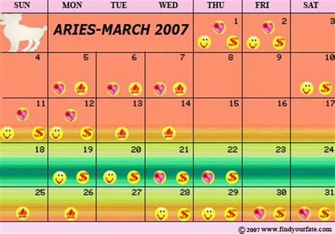Aries Calendar March Zodiac Sign Aries Images
