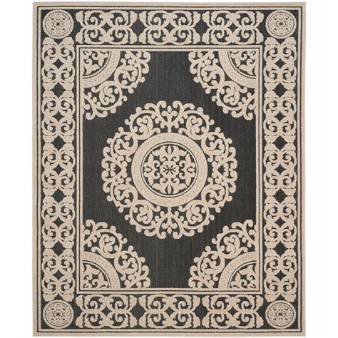 Cottage Area Rugs Safavieh Cottage Indoor Outdoor Black 8 Ft X 11 Ft 2 In Area Rug Cot924e 8 The Home Depot
