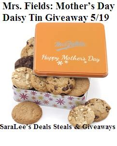 s day summary mrs fields mother s day tin review saralee s